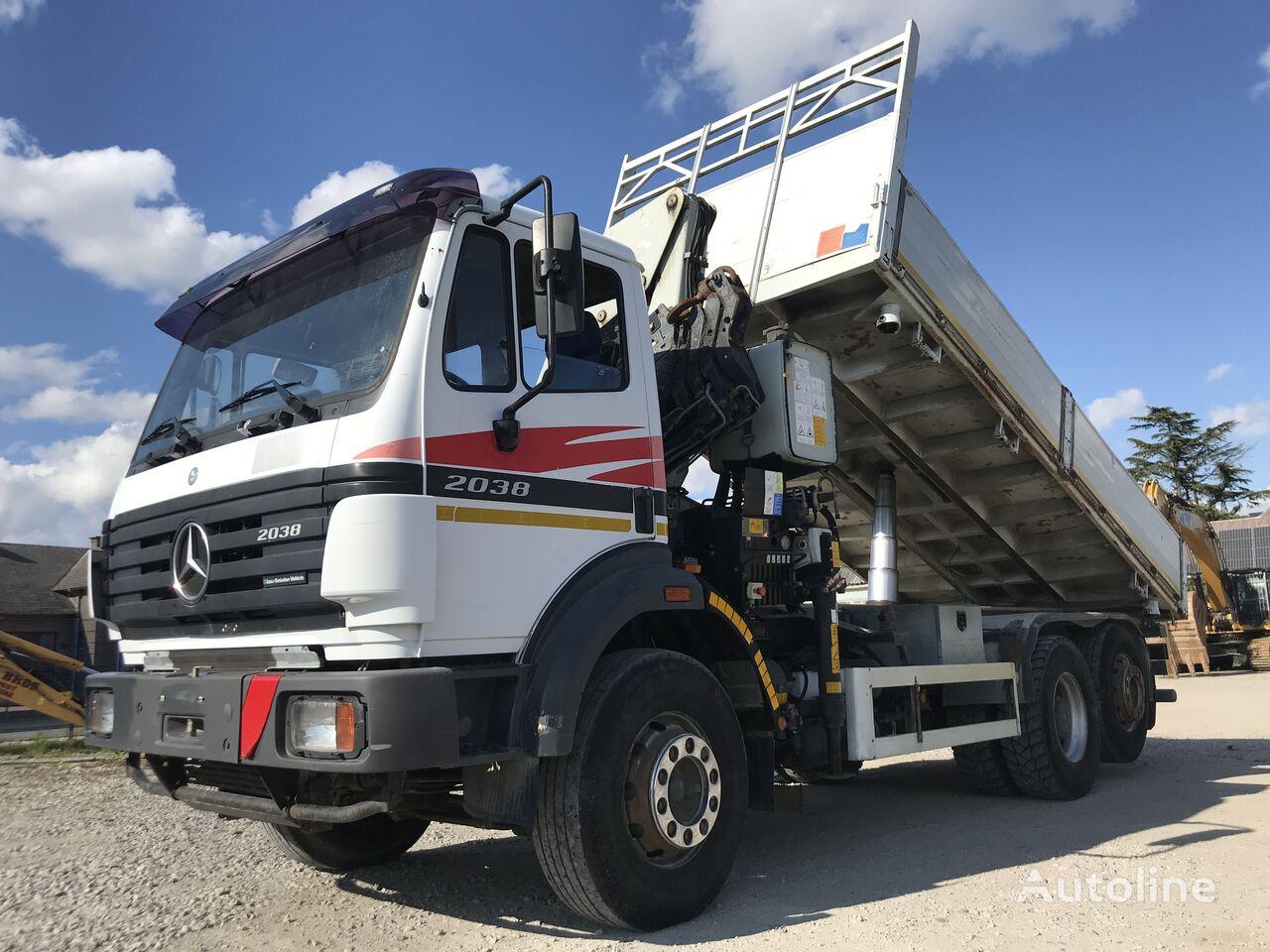 MERCEDES-BENZ SK 2038 - 6x2 //WITH CRANE 7700 KG// dump truck
